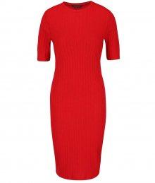 6359e4ab024b Červené rebrované šaty Dorothy Perkins