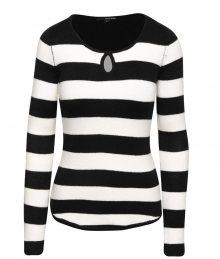 034dad694690 Čierno-biely pruhovaný sveter s priestrihom v dekolte TALLY VEiJL