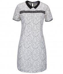 7a9c3ca8fd00 Krémové čipkované šaty s čiernym golierikom Dorothy Perkins Petite