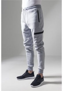 Urban Classics Athletic Interlock Sweatpants grey - L