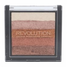 Makeup Revolution London Shimmer Brick 7 g rozjasňovač pre ženy Rose Gold