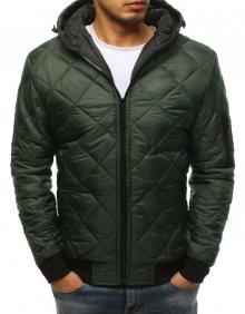f44659659500 Pohodlná bunda s kapucňou zelená