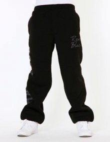 Raw Blue Print N Signature Fleece Men Sweat Pant Black - S / čierna