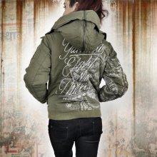 1d1ba139f Yakuza dámska bunda INKED IN BLOOD BOMBER JACKET GJB 9141 dusky green - XS