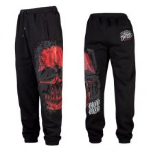 Blood In Blood Out Red Calaveral Sweatpants Black - 2XL
